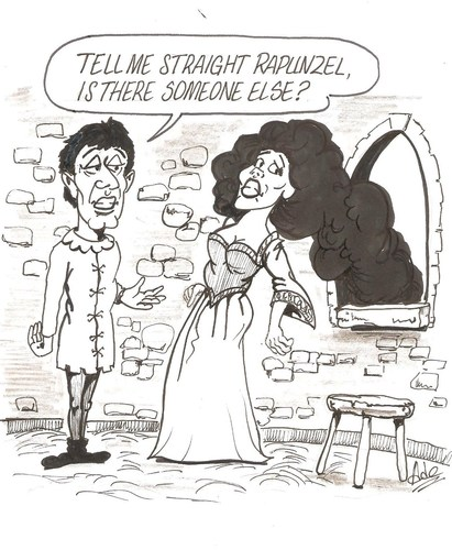 Cartoon: Rapunzel 2 (medium) by ade tagged rapunzel