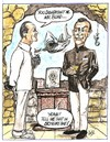 Cartoon: Dr No (small) by ade tagged james,bond,007,doctor,no