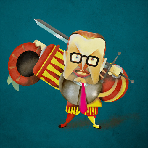 Cartoon: Kai Diekmann (medium) by Michele Rocchetti tagged bild,portrait,caricature,landsknecht,diekmann,kai