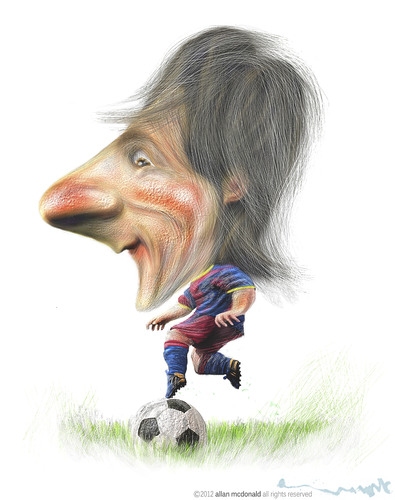 Cartoon: LIONEL MESSI (medium) by allan mcdonald tagged futbol