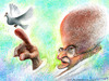 Cartoon: Mahatma Gandhi (small) by allan mcdonald tagged paz