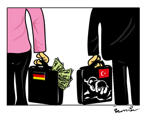 Cartoon: deal for refugees !... (medium) by ismail dogan tagged refugees