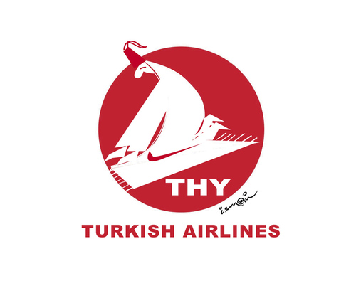 Cartoon: TURKISH AIRLINES (medium) by ismail dogan tagged thy