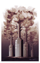 Cartoon: Industrial Tree !... (small) by ismail dogan tagged tree