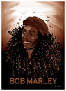 Cartoon: TRIBUTE TO BOB MARLEY !.. (small) by ismail dogan tagged bob marley