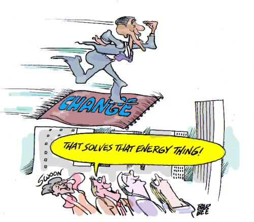 Cartoon: flying carpet solution (medium) by barbeefish tagged obama