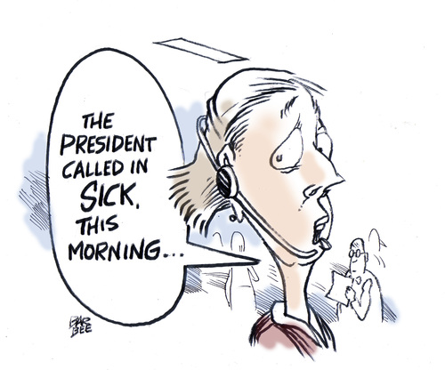 Cartoon: hangover (medium) by barbeefish tagged obama
