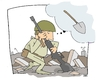 Cartoon: SMART WEAPONS WOULD BE PREFERABL (small) by uber tagged haiti,earth,quake