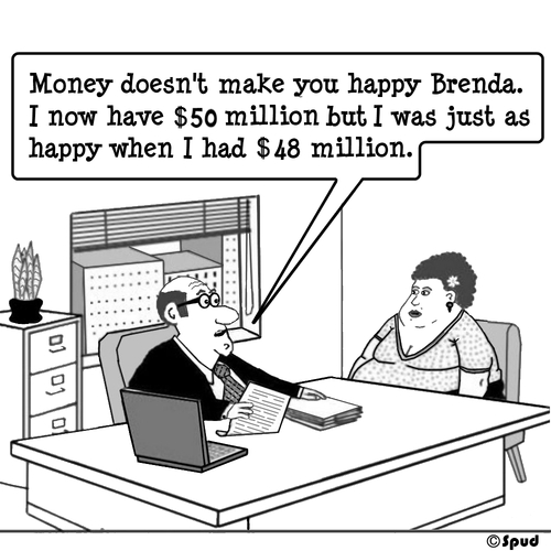 Cartoon: Really Happy (medium) by cartoonsbyspud tagged taylor,paul,business,finance,it,marketing,outsourced,life,office,recruitment,hr,spud,cartoon