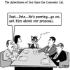 Cartoon: Don Gato 3 (small) by cartoonsbyspud tagged cartoon,spud,hr,recruitment,office,life,outsourced,marketing,it,finance,business,paul,taylor
