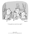 Cartoon: I thought she tasted just right (small) by ian david marsden tagged bears,three,fairytale,goldilocks,bären,märchen,carnivore,vegetarian,cartoon,marsden