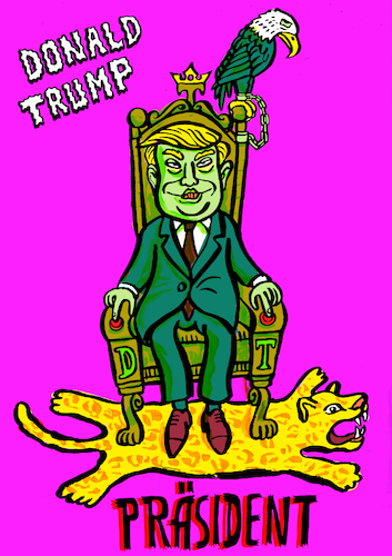 Cartoon: Donald Trump (medium) by habild tagged usa,präsident,trump,diktator