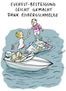 Cartoon: Eisbergschmelze (small) by habild tagged mount,everest,himalaya,motorboot,klimawandel,bergsteigen,eisschmelze