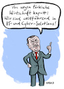 Cartoon: IT-Solutions (small) by habild tagged erdogan,türkei,hacker