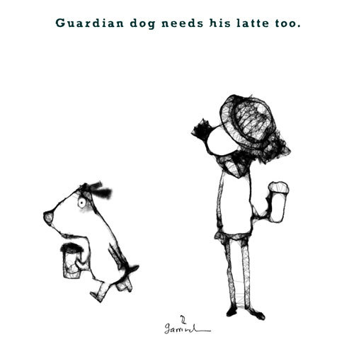 Cartoon: Guardian dog. (medium) by Garrincha tagged ilo