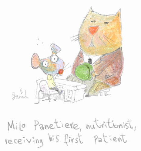 Cartoon: Milo Panetiere (medium) by Garrincha tagged animals,sketches,cartoons