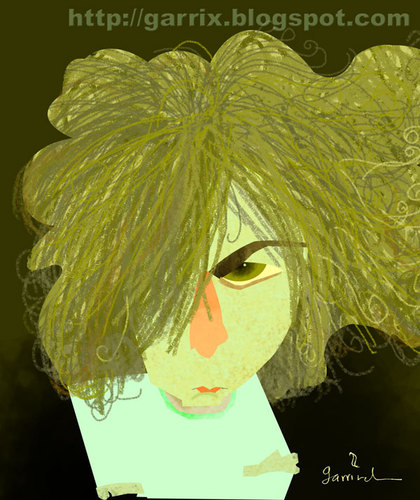 Cartoon: Syd Barrett (medium) by Garrincha tagged pink,floyd,music,rock,guitar