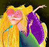 Cartoon: Janis! (small) by Garrincha tagged music,singer