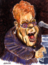 Cartoon: Elton John (small) by daulle tagged caricature,music,daulle,elton,john