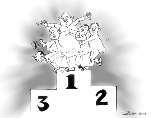 Cartoon: TO BE NUMBER 1 (medium) by denver tagged denver,srilanka