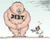 Cartoon: Debt (small) by awantha tagged debt
