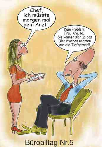 Cartoon: Bein Arzt (medium) by boogieplayer tagged im,büro