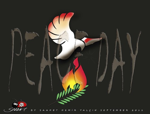 Cartoon: Peace Day (medium) by saadet demir yalcin tagged saadet,sdy,peaceday