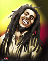 Cartoon: BOB MARLEY (small) by saadet demir yalcin tagged saadet sdy syalcin bobmarley music peace