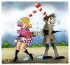 Cartoon: Love is  surprise... (small) by saadet demir yalcin tagged saadetyalcin,sdy,saadet,turkey,love,cartoon