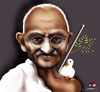 Cartoon: mahatma gandhi (small) by saadet demir yalcin tagged gandhi,syalcin
