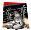 Cartoon: no comment... (small) by saadet demir yalcin tagged gaza,saadetyalcin