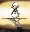 Cartoon: Special Menu (small) by saadet demir yalcin tagged saadet,sdy,syalcin,turkey,war,peace,world,egg,grenade