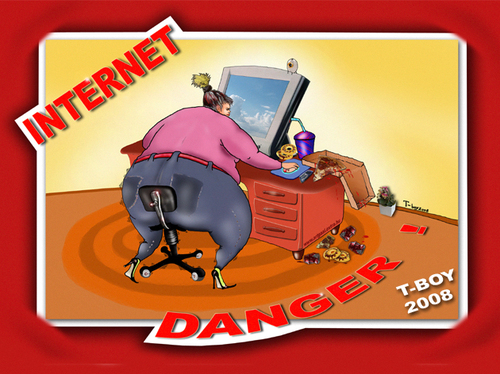 Cartoon: INTERNET DANGER (medium) by T-BOY tagged internet,danger