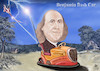 Cartoon: BENJAMIN FRANKLIN  flash Car (small) by T-BOY tagged benjamin,franklin,flash,car