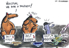 Cartoon: . (small) by LA RAZZIA tagged just,married,groom,husband,begging,beggar,poor,money,geld,bettler,hochzeit,hunde,dogs,penner