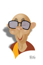 Cartoon: Dalai Lama (small) by geomateo tagged dalai lama tibet