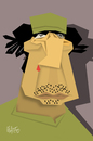 Cartoon: Muammar Gaddafi (small) by geomateo tagged muammar gaddafi libia dictators