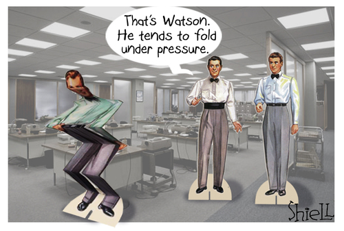 Cartoon: Folds Under Pressure (medium) by mikess tagged work,office