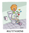 Cartoon: Multitasking (small) by mikess tagged multitasking,work,office,business,clown,clowns,circus,juggling,toilet,washroom,flush,poo,paper