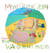 Cartoon: the Wandering Melon on Dec. 26th (small) by mikess tagged christmas,christmastime,santa,claus,xmas,north,pole,reindeer,elves,santas,little,helpers,december,25,workshop,mrs,bum,thong,vacation,beach,holiday,ocean,tropical,paradise,wandering,melon,swimming,sand,islands