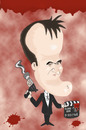 Cartoon: Tarantino (small) by Rick FC tagged tarantino