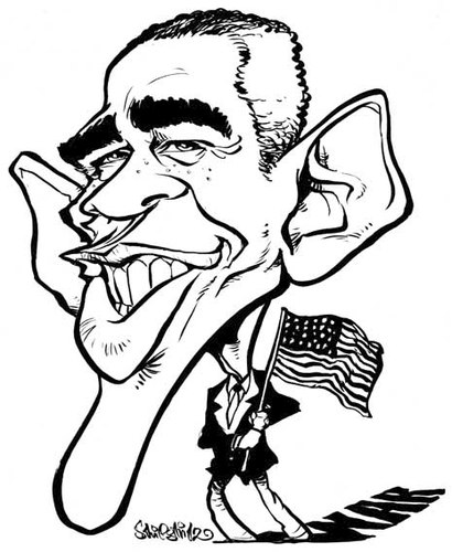 Cartoon: Barack Obama (medium) by stieglitz tagged barack,obama,karikatur,caricature,caricatura