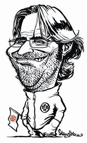 Cartoon: Jürgen Klopp (medium) by stieglitz tagged caricature,karikatur,kloppo,klopp,jürgen,cartoon,comic,zeichnung,karrikatur,cl,champions,league,borussia,dortmund,bvb,dfb,pokalfinale,finale,endspiel,fcb,bayern,münchen,munich,pep,guardiola