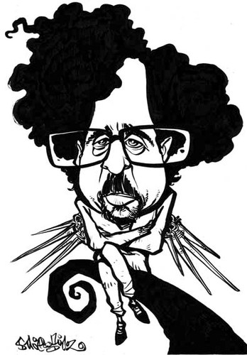 Cartoon: Tim Burton (medium) by stieglitz tagged tim,burton,caricature,caricatura,karikatur,daniel,stieglitz