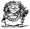 Cartoon: Bombur (small) by stieglitz tagged stephen,hunter,bombur,dwarf,dwarves,the,hobbit,karikatur,caricature,caricatura