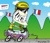 Cartoon: Alle Titel weg ... (small) by BRAINFART tagged lance,armstrong,rennvelo,wettrennen,tour,de,france,titel,skandal,doping,comic,cartoon,character,art,brainfart,wir,wussten,es,sport,bicycle,cycle,cheat,medien,new,neuigkeiten