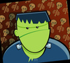 Cartoon: frankie (small) by michaelscholl tagged frankenstein,halloween