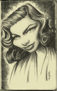 Cartoon: lauren bacall (small) by michaelscholl tagged lauren,bacall,actress