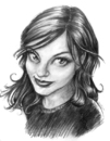Cartoon: lisa (small) by michaelscholl tagged woman,pencil,drawing,cartoon