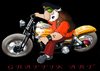 Cartoon: GRAPHISME AVEC PHOTOSHOP (small) by Florian Quilliec tagged harley